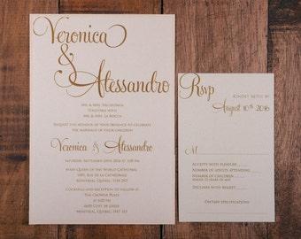 Blush and Gold Wedding Invitation, Blush and Gold Invitation, Blush and Gold Wedding Invitations, Blush and Gold Invitations, Blush Invite