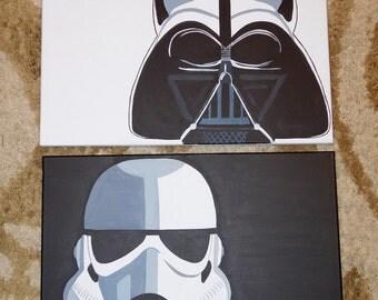 Star Wars - Darth Vader & Storm Trooper Paintings