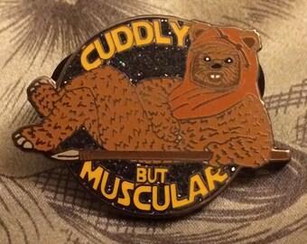 Cuddly But Muscular Ewok Star Wars Phish Pin