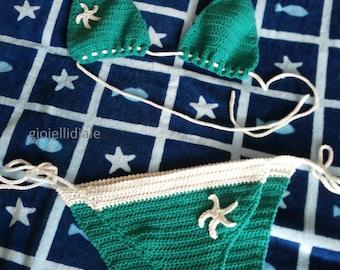 "FREE SHIPPING! Crochet bikini ""Vis Island"""