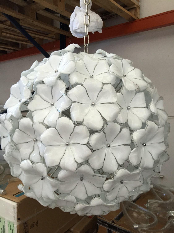 Lampadario sputnik vetro murano tipo mazzega di italianlightdesign