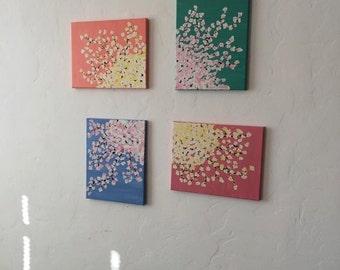 Cherry Blossom Painting Series