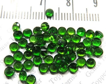3mm Chrome Diopside Faceted Round -  Calibrated Size Gemstone - Green Color Natural Loose Gemstone - Chrome Diopside Faceted Cut - FOR ONE