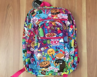 """Backpack/ School Bag Tasty Print Fruit Scented """"Best Day Ever"""" w Personalization"""