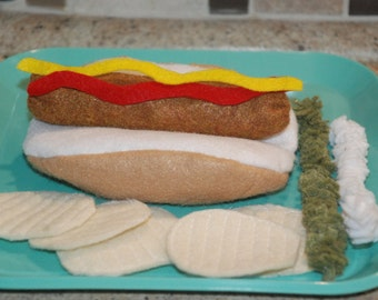 Felt Hot dog Set