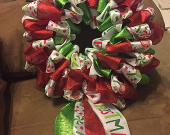 12 inch 4 ribbon wreath