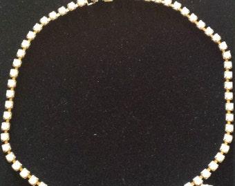Vintage Milk Glass Choker Necklace