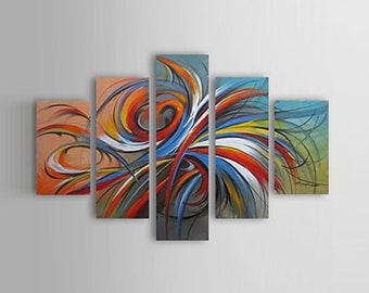 """61"""" x 35.8"""" - Abstract painting, Large wall art, oversized abstract art, landscape painting - Davies Art Gallery"""