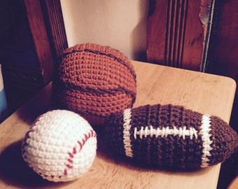 Crocheted sports balls