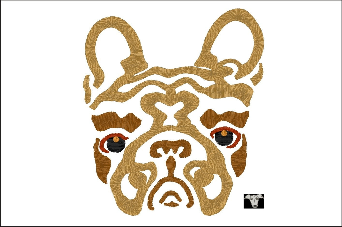 french bulldog dog embroidery designs in 6 sizes from 4itchyears on etsy studio