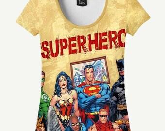 Superhero T-shirt, Superhero Shirt, Women's T-shirt, Women's Shirt