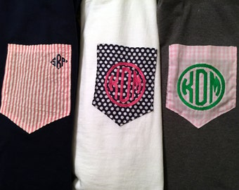 Monogram Pocket Tee-Long Sleeve