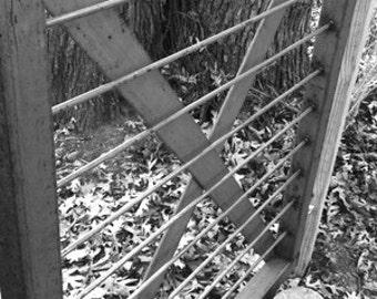 Steel garden gate.