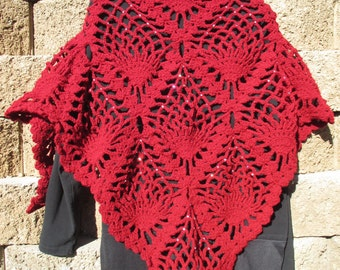 Handmade Crochet Shawl or Wrap