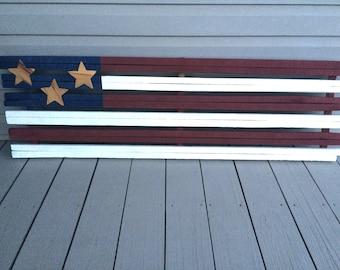 Primitive Tobacco Stick American Flag