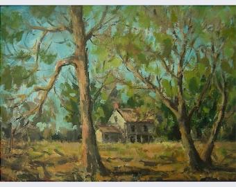 "Old Farmhouse, oil painting, 12""X16"""