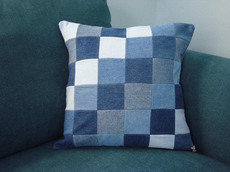 Decorative Denim Pillows : Decorative denim pillow covers