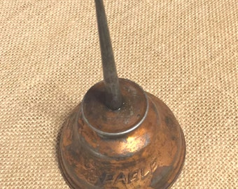 Vintage Collectable Eagle Copper Oil Can