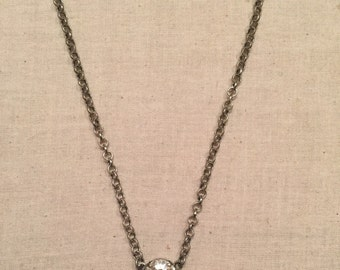 12mm Rivoli Single Pendant Necklace