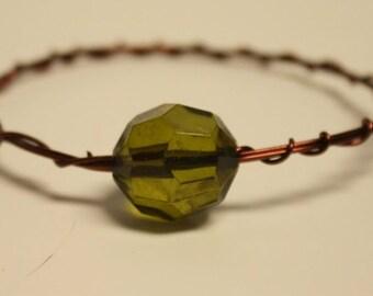 Brown wire bangle bracelet