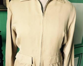 1950s Gabardine Yellow ladies jacket, great condition, vlv