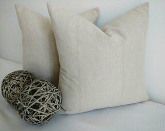 Both side linen pillow cover,natural linen pillow,Farmhouse Rustic pillow,beige pillow,neutral pillow,rustic Farmhouse pillow,easy to match