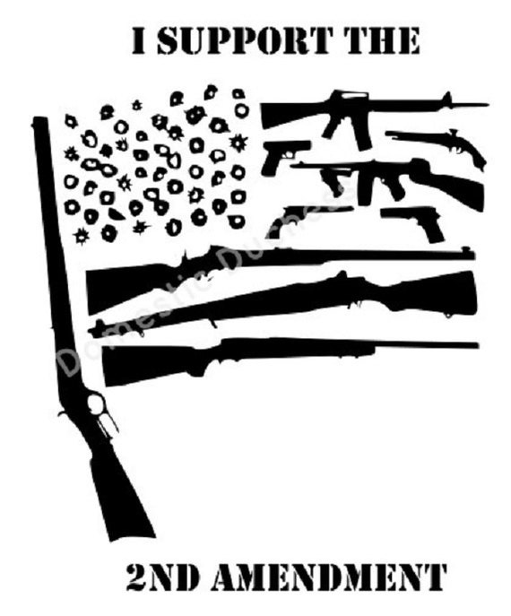 Second Amendment Gun Flag Svg Files Guns Flag American