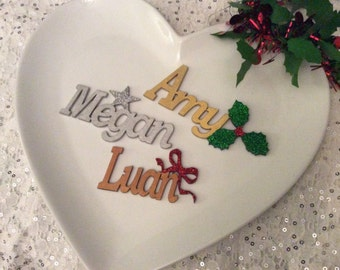 Party, special occasion, wedding, Christmas table place names, place settings, wedding table