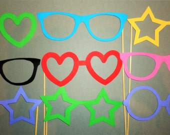 Birthday party Wedding colorful glasses Party photo booth props Glasses Holiday party Engagement party Photobooth props