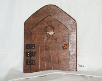 Fairy Door with Copper Feathers D019