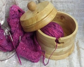 handmade wood Yarnbowl maxi with a lid ~ perfect gift for knitter ~ knitting accessory ~ unique and handmade