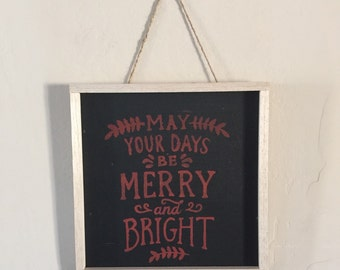 Merry and Bright Holiday Sign