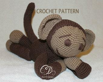 Amigurumi Pattern, Monkey, Stuffed Animal Crochet Pattern