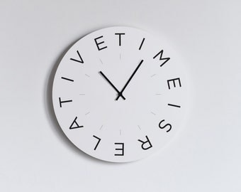 MOOD WALL CLOCK - Time Is Relative