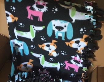 No-Sew Fleece Dog Blankets