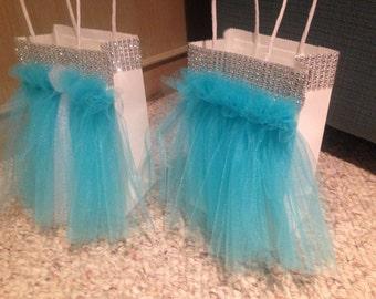 1 Handmade party favor bag gift bag tutu tulle