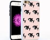 Orca Whale Cartoon Cell Phone Case in Pink for iPhone6 / 6plus, iPhone5, Galaxy s5, Galaxy s6. Killer Whale Disney Pattern