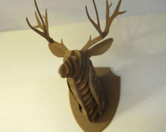 Corrugated Taxidermy - Deer Head, Large