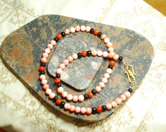 SALE, Halloween necklace, glass beads
