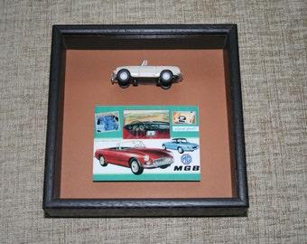 framed MGB model