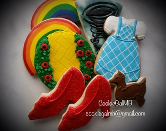 Wizard of Oz Inspired Cookies