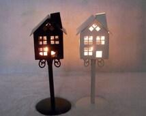 Vintage Metal Pavilion Candle Holder Candlestick Tea Light Stand Wedding Decor