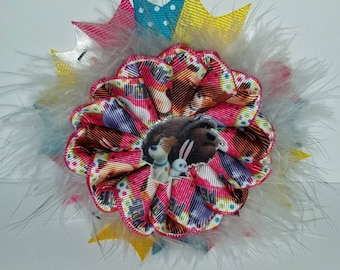 Secret Life of Pets Spiral Hairbow