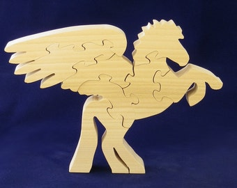 Pegasus in wood,
