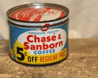 Vintage Chase &Sanborn Coffee can