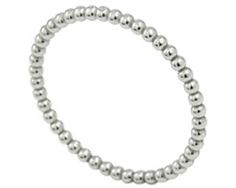 925 Sterling Silver Beaded Stackable Ring