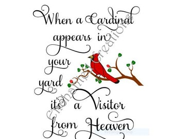 SVG / EPS / DXF / png  file - A Cardinal is a Visitor from Heaven