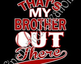 SVG file - Baseball - That's My Brother