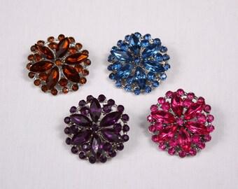 2 spindles 35mm, metal/acrylic, purple, blue, rust, pink (9044)