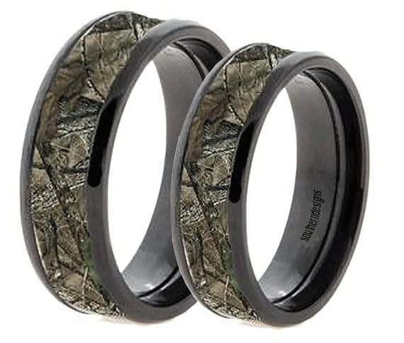 couples camo band rings custom engraved by customsbykylie